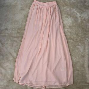 Light pink long skirt